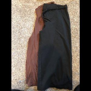 Pants - Lot of 2 wide-leg capris brown size M black size S